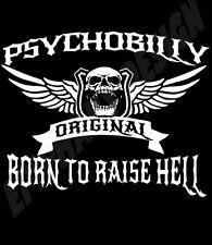 Psychobilly Camiseta Born To Raise Hell Original Diseño gothabilly Rock & Roll