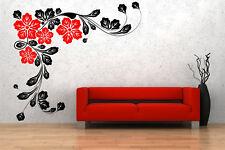 Wonderful Corner Flowers Giant Vinyl Wall Sticker Removable Decal Decoration Art
