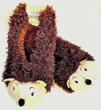 Igel Damen Hausschuhe Pantoffel Fleece Slipper Socken Schuhe Braun 36-42 Primark