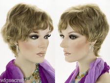 Medium Short Human Hair Pixie Cut Wavy Straight Blonde Brunette Red Grey Wigs