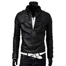 ★PELLE 100%★ Giacca Giubbotto in di Pelle Uomo Men Leather Jacket Veste Cuir 12p
