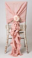 mousseline de soie HOTTES & Volants décor Chiavari Housse de chaise Marriage