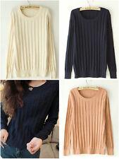 da donna o Ragazza Vintage girocollo GAMBA TWISTED maglione lavorato a maglia