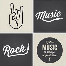 Autocollant Stickers muraux enfant rock