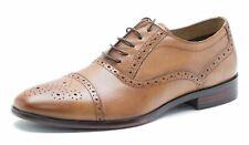 RED TAPE Hartwell Hombre Cordones Brogue Zapatos de cuero marrón 270