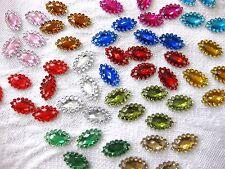 200 Applikationen,Glitzersteine,zum Aufnähen,oval,12x6mm,Farbe wählbar,St12.1