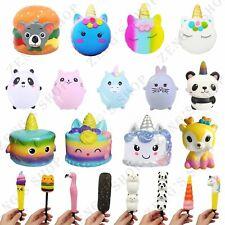 New Jumbo Squishys Panda Unicorn Cake Pen Cover Slow Rising Squeeze Toy Kid Gift