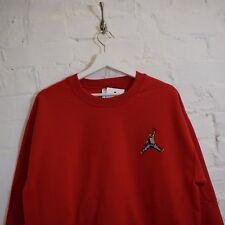 Biggie x Jordan Mic Slam Dunk Hip Hop Notorious BIG Red Crew Neck Sweatshirt Top