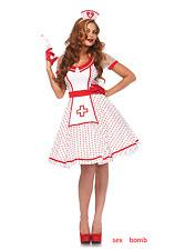 SEXY completo Costume Infermiera Vintage taglie S/M M/L CARNEVALE feste GLAMOUR
