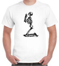 Victorian engraving Skeleton T-Shirt Praying Goth Death