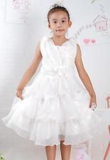 NUEVO partido de la muchacha flor Paje Dama Honor Vestido color rosa, blanco