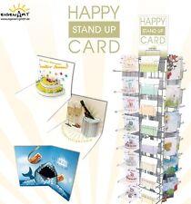 Geburtstagskarte Happy Stand Up Card Eigenart Geburt Hochzeit Taufe Auswahl NEU