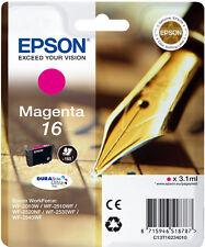 CARTOUCHE EPSON NEUVE 16 MAGENTA / stylo plume t16 t 16 t1623 workforce wf-2010w