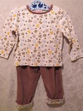Snugabye Zoo Animal Velour 2 pc Set Outfit, 18 mos.