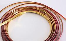 【Decorative Strip Chrome Gold】 Car Vehicle Moulding Line Trim 5 meters