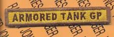 "4th ""ARMORED TANK GROUP"" AIB AFA TAB patch"