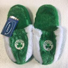 Boston Celtics Fuzzy SLIDE SLIPPERS New - FREE USA SHIPPING