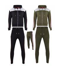 Men's Tracksuit Contrast Slim Fit Suit Jogger Hoodie Trouser Bottom Full Set Bob