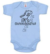 "GRACIOSO Dinosaurio Body ""I'm A cuteosaurus"" Lindo BODY Regalo bebé"