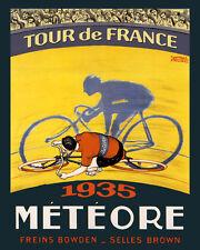 1935 Meteore Bicycle Bike Tour de France Sport Vintage Poster Repo FREE S/H