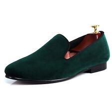 Harpelunde Green Men Velvet Loafer Slippers Plain Wedding Shoes Size 6-14