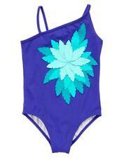 NWT Gymboree Swimsuit Purple Palm leaf Girls 5 6 7