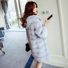 Giacca cappotto  pelliccia ecologica sintetica grigio cappuccio morbido  1349