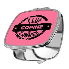 MIROIR DE POCHE - ELUE COPINE DE L'ANNEE - 10 COULEURS DISPO - AMITIE AMIE