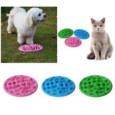 Dog Slow Down Eating Feeder Dish Pet Dog Cat Feeding Food Bowl Large / Small