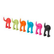 IKEA BASTIS HOOK dog tail leash key wall hanger coat hat RUBBER NEW  FREE SHIP