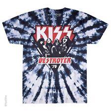 KISS -DESTROYER '76-TIE DYE TSHIRT M-L-XL-XXL Simmons, Stanley, Frehely, Criss