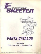1972 EVINRUDE SKEETER E2010 + SNOWMOBILE PART MANUAL