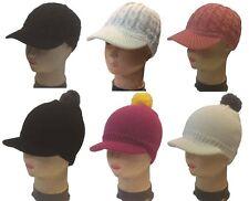 Kids Winter Knit Cap Beanie Children Ski Knit Beanie Visor Cap Hat - 3T to 8T