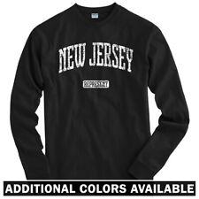 New Jersey Represent Long Sleeve T-shirt - LS Men S-4X - Gift Devils Newark City