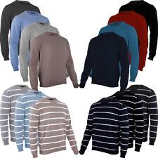 Pullover Herren Pulli Sweatshirt Rundhals M L XL XXL Feinstrick hemmy Fashion