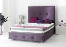 King Double Single Tall Headboard Upholstered Verona Bed Chenille Velvet Fabric