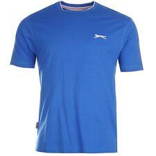 Da Uomo Blu Tipped Collar ROUND Girocollo T-SHIRT MANICA CORTA T-Shirt Top