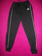 ProStar Vapor Womens Athletic Trouser, Black w/Twin White Stripe & Ankle Zipper