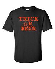 Trick or Beer PUMPKIN Halloween Party College Drinking ORANGE PT Men's Tee Shirt