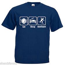 Snowboard Adulti Da Uomo T Shirt 12 Colori Taglia S - 3XL