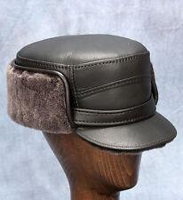 NEW Elmer Fudd Hat (Brown) - Leather/ Sheepskin by Northern Hats (SKU: 13D-BRN)