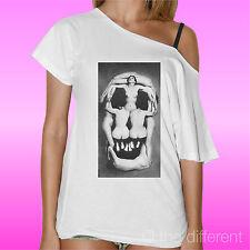 Women's T-Shirt Neck Boat Skull Women Woman Road to Happiness