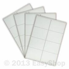 White A4 Inkjet Laser Sheets Self Adhesive Sticky Address Labels 100 x 72mm 8 up