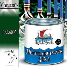 Halvar hochwertiger 3 in 1 Metallschutzlack Grün 2,5L 5L 10L RAL 6005 Moosgrün