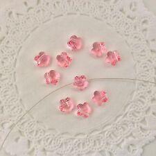 Swarovski® Crystal #5744 - 8mm Flower Bead  4 PC. PACK - Choose Color