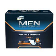 Tena Men diskrete Schutzstufe 3 8 Pads 1 2 3 6 12 Packs