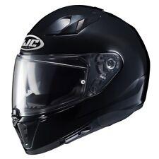 hjc i 70 nero grafica mono colore metal casco integrale black lucido + pinlok