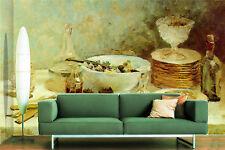 3D Tisch, geschirr 345 Fototapeten Wandbild Fototapete BildTapete Familie DE