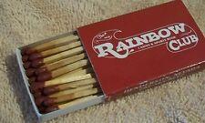 Rainbow Club Casino & Sports Book Vintage Maroon Matchbox Henderson Nevada
