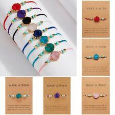 Fashion Handmade Make a wish Natural Stone Round Resin Bracelet Women Jewellery
